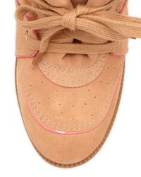 Schutz - Brown Saint Bridget Wedge Sneaker - Lyst