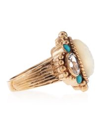 Stephen Dweck - Metallic Carved Mother Of Pearl Piggyback Ring - Lyst