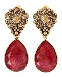 Stephen Dweck | Red Coral Dangle Clip On Earrings | Lyst