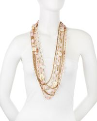 Stephen Dweck - Metallic Long Shell And Mixed-stone Necklace - Lyst