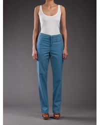 Surface To Air | Blue High Waisted Chino Trouser | Lyst