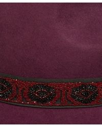 Etro - Purple Burgundy Wide Brim Fedora - Lyst