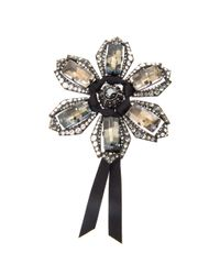 Lanvin | Multicolor Volubilis Floral Crystal Brooch | Lyst