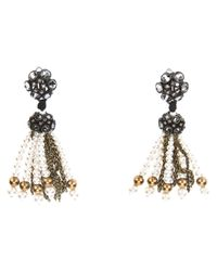Lanvin | Metallic Beaded Earrings | Lyst