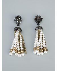 Lanvin - Black Beaded Earrings - Lyst