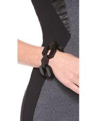 Marc By Marc Jacobs - Black Bolt Link Bracelet - Lyst