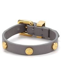 Marc By Marc Jacobs | Gray Turnlock Leather Wrap Bracelet | Lyst