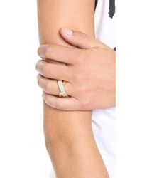 Michael Kors - Metallic Pave Crisscross Ring - Lyst