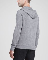 Theory - Gray Sanders Ph Slubby Hooded Sweater for Men - Lyst