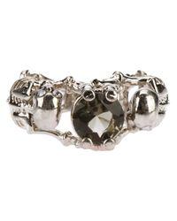 Alexander McQueen - Metallic Skeleton Bracelet - Lyst
