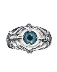 Spanx - Blue Asos Curve Eye Claw Ring - Lyst