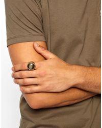 ASOS - Green Signet Ring for Men - Lyst