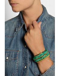 Aurelie Bidermann - Green Do Brasil Goldplated and Cotton Cuff - Lyst