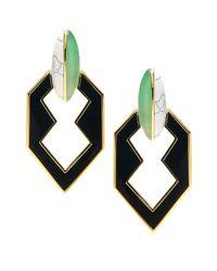 Eddie Borgo | Black Peaked Link Earring | Lyst
