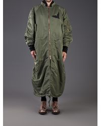 Juun.J | Green Embroidered Bird Coat for Men | Lyst