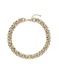 TOPSHOP - Metallic Gold Bubble Link Chain Necklace - Lyst