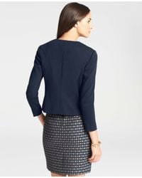 Ann Taylor | Blue Foyer Jacket | Lyst