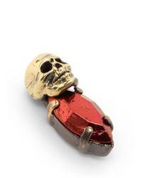 Iosselliani | Red Skull Bronzed Stone Earrings | Lyst