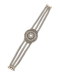 John Hardy | Metallic Dotted Three-chain Bracelet | Lyst