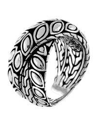 John Hardy | Metallic Padi Silver Twist Ring Size 7 | Lyst