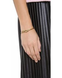 Juicy Couture - Metallic Skinny Gold Panther Bangle - Lyst