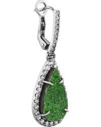 Kimberly Mcdonald - Green 18karat Blackened White Gold Uvarovite Garnet and Diamond Earrings - Lyst