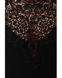 Nasty Gal - Black Tied Crochet Romper - Lyst