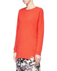 Whistles | Orange Devon Angora Long Sweater | Lyst