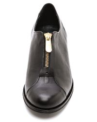Won Hundred - Black Zeta Zip Front Oxfords - Lyst