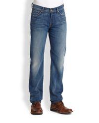 7 For All Mankind | Blue Slimmy Slim Straight-leg Jeans for Men | Lyst
