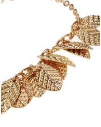ASOS | Metallic Leaf Charm Bracelet | Lyst