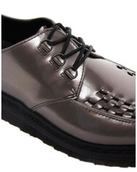Dr. Martens - Gray Beck Creeper Shoes for Men - Lyst