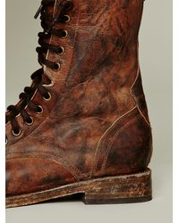 Lyst Freebird By Steven Fletch Lace Up Boot In Brown