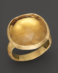 Marco Bicego | Metallic 18K Yellow Gold Jaipur Citrine Ring | Lyst