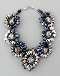 Nakamol - Multicolor Crystalflower Statement Necklace - Lyst