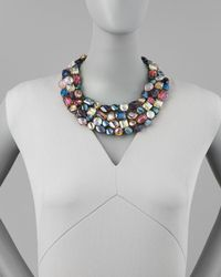Nakamol | Multicolor Multicrystal Statement Necklace | Lyst