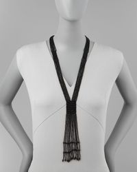 Nakamol | Black Multistrand Beaded Bolo Necklace | Lyst