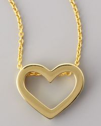 Roberto Coin - Metallic 18k Yellow Gold Heart Necklace - Lyst