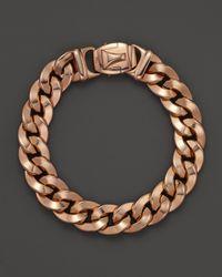 Roberto Coin - Pink 18K Rose Gold Link Bracelet - Lyst