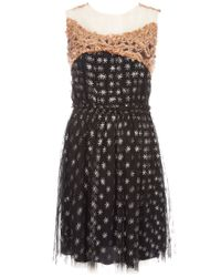 Rodarte | Black Printed Dress | Lyst