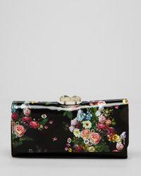 Ted Baker | Black Wallet Oil Blossom | Lyst