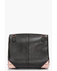 Alexander Wang Black Leather and Rose Gold Marion Shoulder Bag