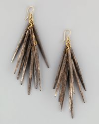 Ashley Pittman - White Kura Bonespike Earrings Gray - Lyst
