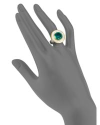 Gurhan - Green Diamond Emerald Doublet 24k Yellow Gold and Sterling Silver Ring - Lyst