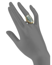 Gurhan - Metallic Elements Moss Aquamarine, 24K Yellow Gold & Sterling Silver Ring - Lyst