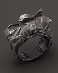 John Hardy | Metallic Men'S Naga Sterling Silver Dragon Head Ring for Men | Lyst