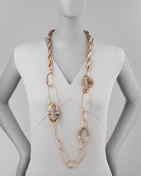 Lanvin - Metallic Long Golden Chain Necklace/Belt - Lyst
