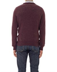 A.P.C. - Purple Donegal Crewneck Sweater for Men - Lyst