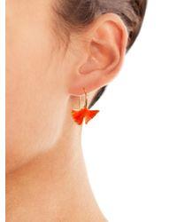 Aurelie Bidermann - Green Ginko Leaf Earrings - Lyst
