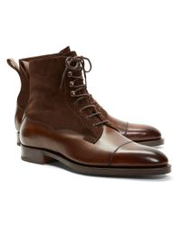 Brooks Brothers | Brown Edward Green Galway Suede And Leather Boots for Men | Lyst